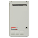 Rheem Tankless Hot Water System.